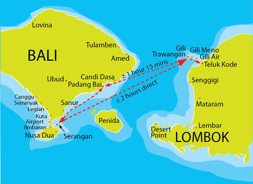 Gili Islands and Lombok Routes